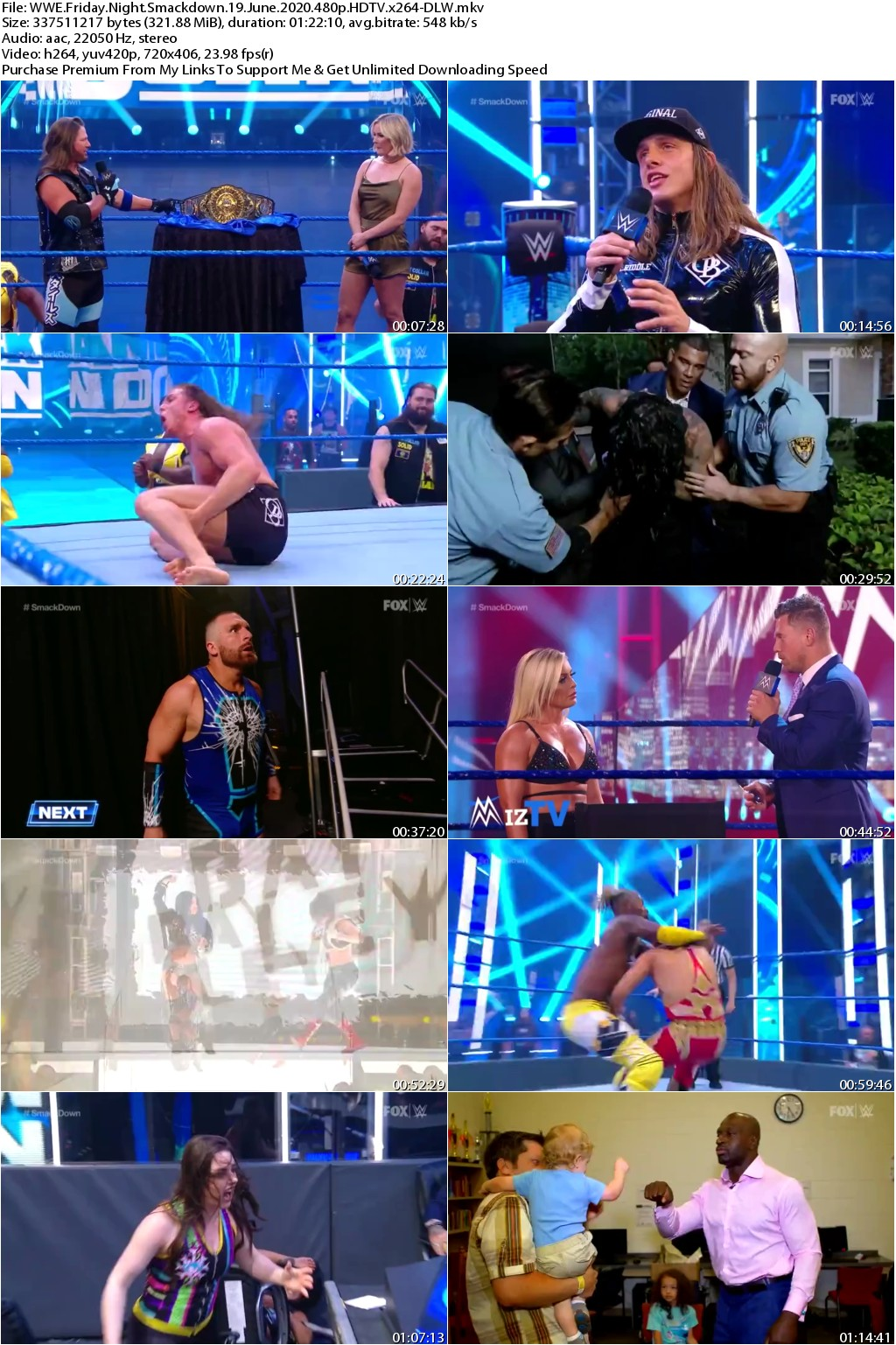 WWE Friday Night Smackdown 19 June 2020 480p HDTV x264-DLW