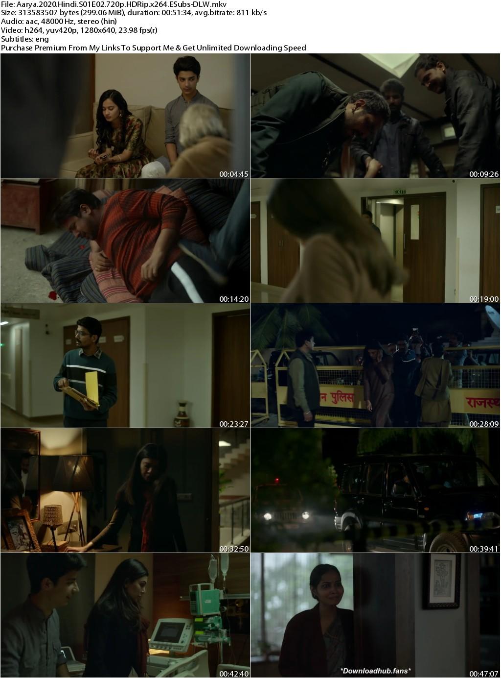 Aarya 2020 Hindi Season 01 Complete 720p HDRip x264 ESubs 2.6GB-DLW
