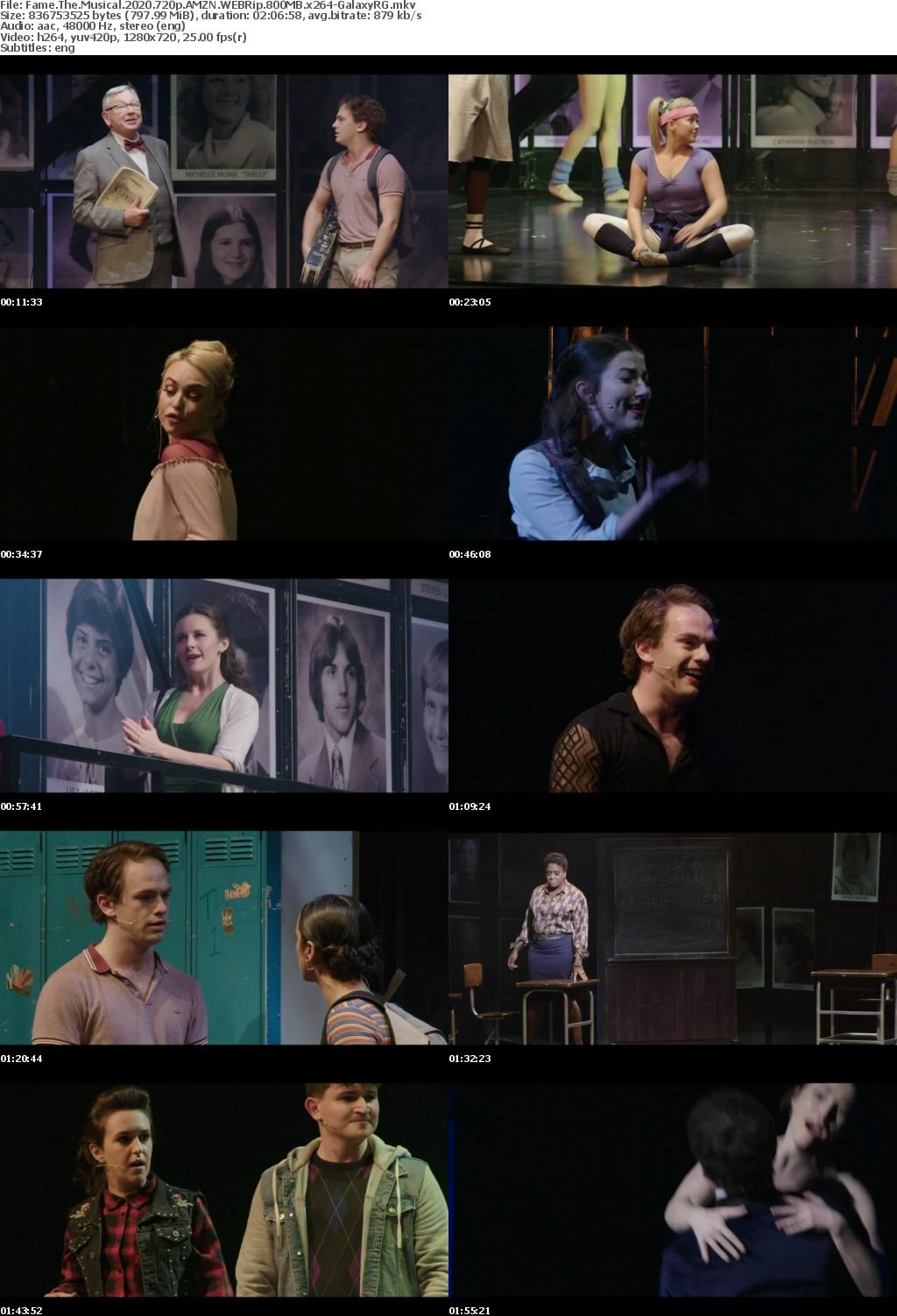Fame The Musical (2020) 720p AMZN WEBRip 800MB x264-GalaxyRG