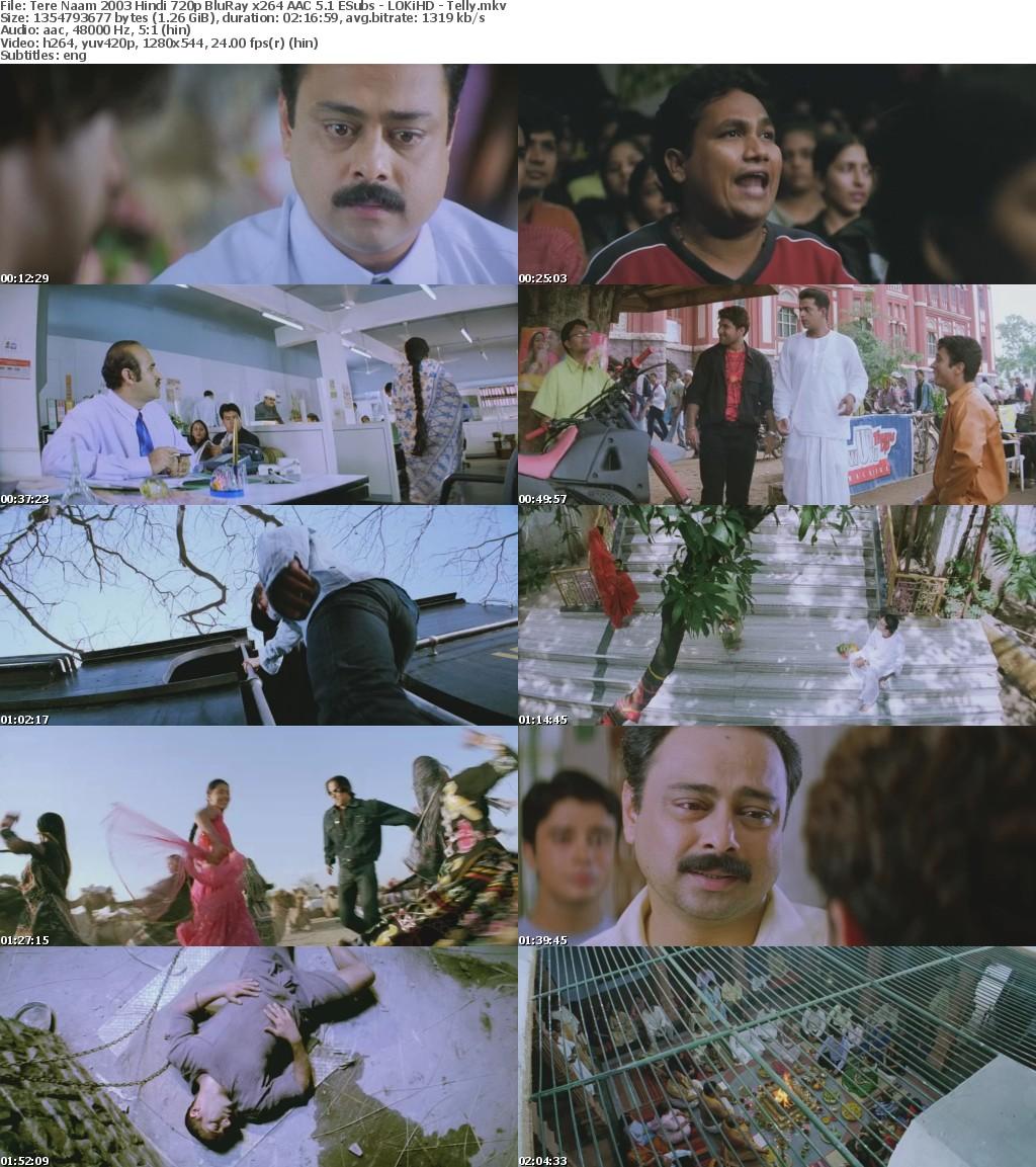Tere Naam 2003 Hindi 720p BluRay x264 AAC 5 1 ESubs - LOKiHD - Telly