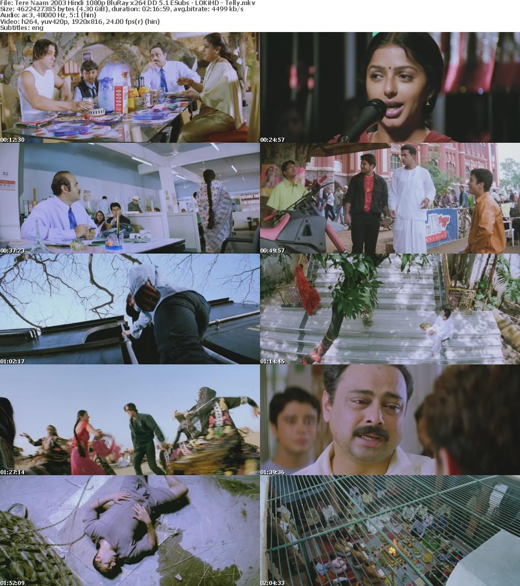 Tere Naam 2003 Hindi 1080p BluRay x264 DD 5 1 ESubs - LOKiHD - Telly