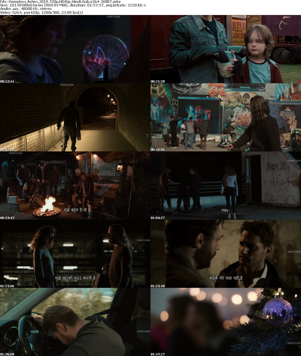 Homeless Ashes (2019) HDRip 720p Hindi-Sub x264 - 1XBET