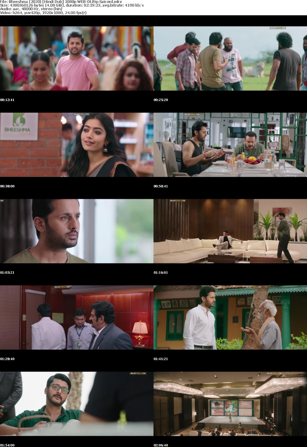 Bheeshma (2020) Hindi Dub 1080p WEB-DLRip Saicord